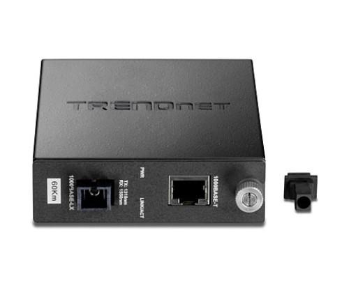 Trendnet TFC-1000S60D5 Intelligent  Dual Wavelength Fiber Converter, 60 KM
